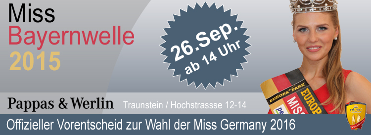 Miss Bayernwelle Wahl 26.09.2015