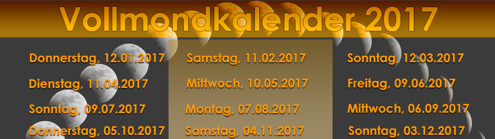 Vollmondkalender 2017