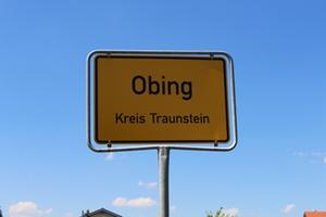 Obing Ortsschild