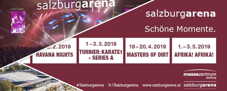 Montag ist Showtag - Salzburgarena bis Mai 2019