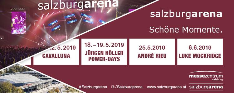 Montag ist Showtag - Salzburgarena Banner