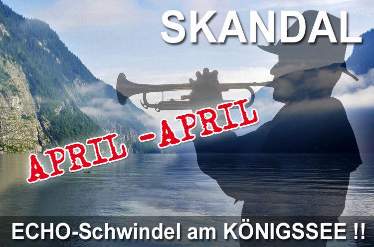 Aprilscherz Koenigssee Aufloesung