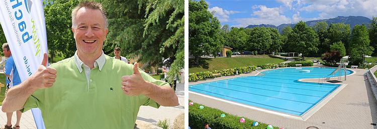 Eröffnung Schwimmbad Mein Bachei Alpinbad Schwarzbach