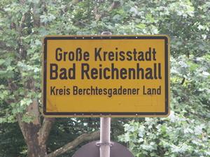 Bad Reichenhall Ortsschild
