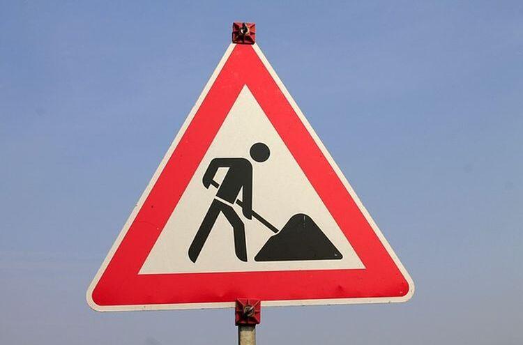 Baustelle Verkehrszeichen