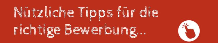 Banner Bewerbungs-Tipps