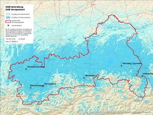 DAB+ Voralpenland - Empfang Karte