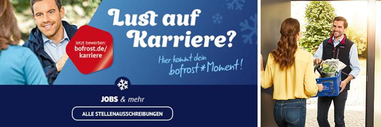 Gutscheinshop - bofrost Traunstein Banner Karriere