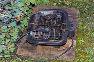 Elektrogrill löst Brand aus