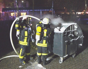 Brand Müllcontainer