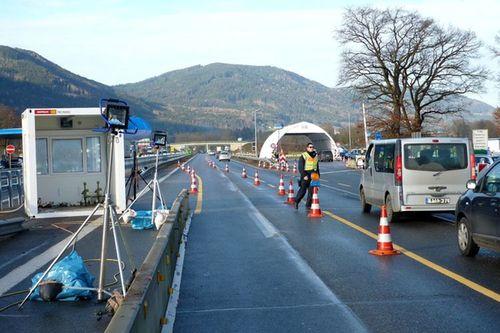 Bundespolizei Kontrollstelle Autobahn