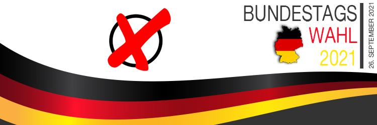Bundestagswahl 26. September 2021 - Banner Unterseite