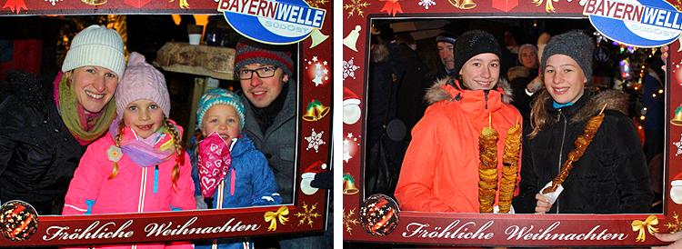 Mit dem Bayernwelle Fotorahmen auf dem Christkindlmarkt in Tittmoning 2017