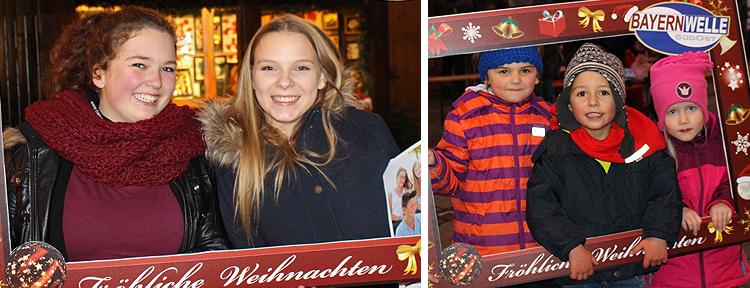 Mit dem Bayernwelle Fotorahmen auf dem Christkindlmarkt in Traunstein 2017