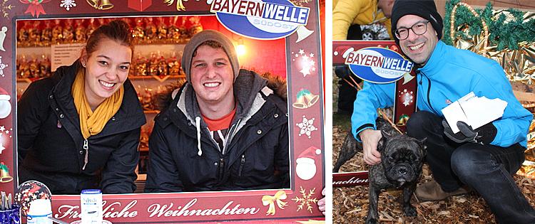 Mit dem Bayernwelle Fotorahmen auf dem Christkindlmarkt in Laufen 2017