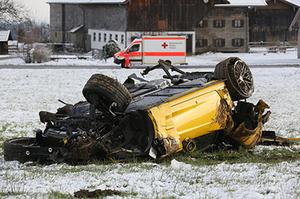 corvette-autobahn-unfall