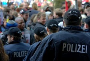 Demonstration Polizei
