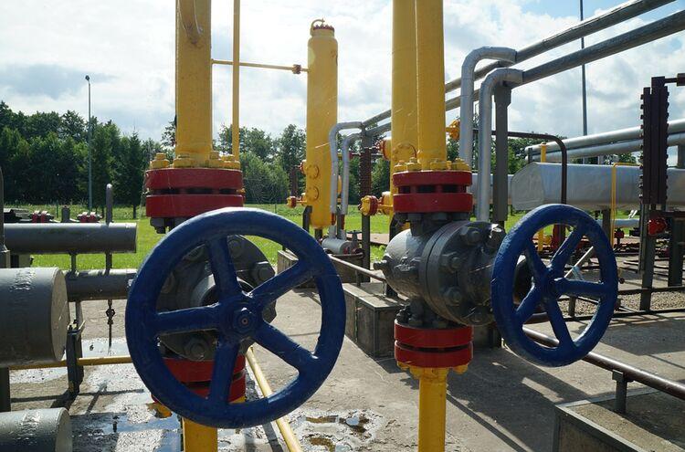 Erdgas Leitung
