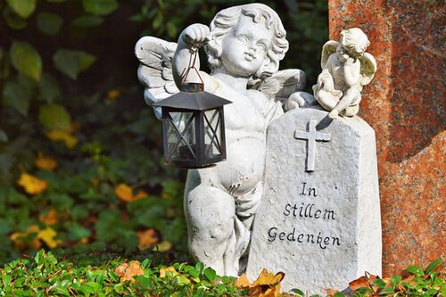 Friedhof Grab