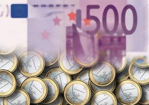 Geld Euro Münzen Schein