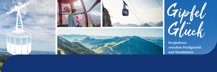 Banner Unterseite: Gipfelglück - Bergbahnen zwischen Predigtstuhl und Wendelstein
