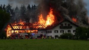 Großbrand Saaldorf-Surheim