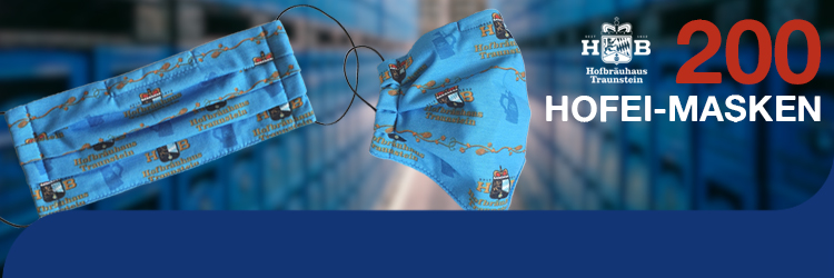 Hofbräuhaus Traunstein: Hofei Masken Banner Unterseite