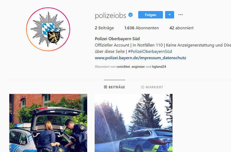 Instagram Polizei Obb Sued