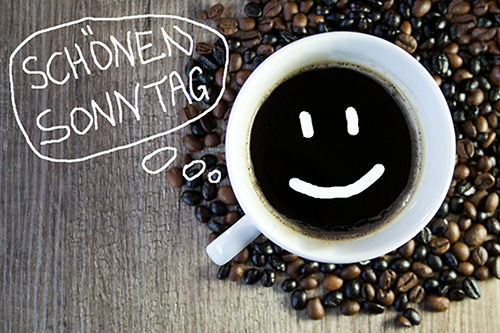 Kaffeetasse Schoenen Sonntag