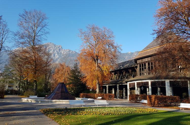 Kurgarten Reichenhall Gradierhaus Herbst