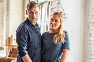 """""""Lena Lorenz - Drehstart"""": Jens Atzorn (als Quirin Pankofer) und Judith Hoersch (als Lena Lorenz)"""