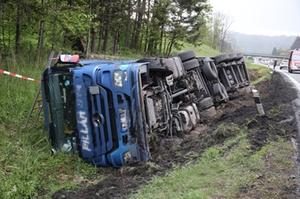 LKW-Unfall Siegsdorf