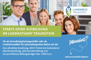 Banner Landratsamt Traunstein Auszubildende Fachinformatiker/-in für Systemintegration (m/w/d)