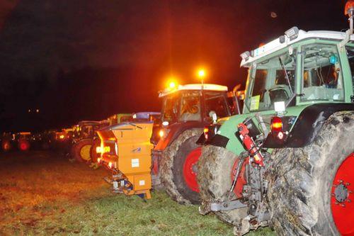 Mahnfeuer Traktoren