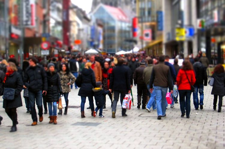 Menschenmasse Einkauf