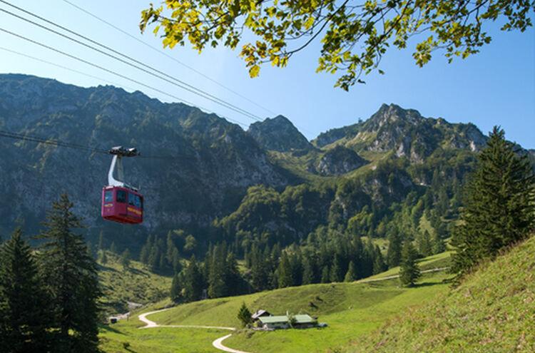 Menueknotenpunkt Gipfelglueck Hochfellnseilbahn