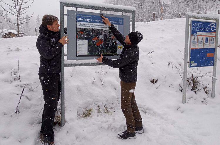 Neue Beschilderung Nationalpark Berchtesgaden