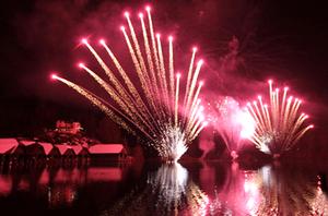 Neujahrsparty Feuerwerk Königssee 01 Januar 2018