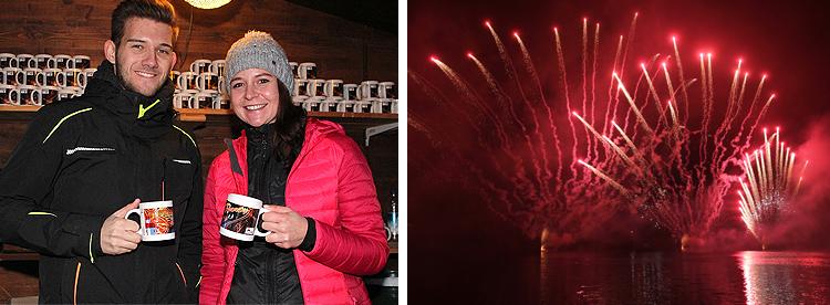 Neujahrsparty Feuerwerk Königssee 01 Januar 2019