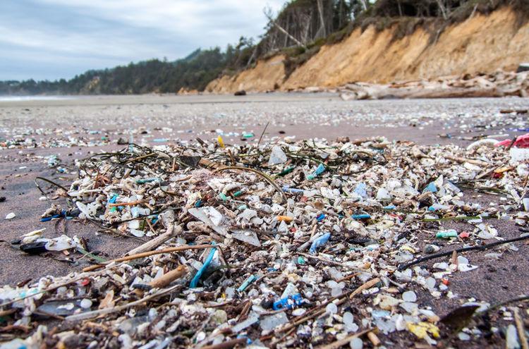 Plastikmuell Am Strand Jhager