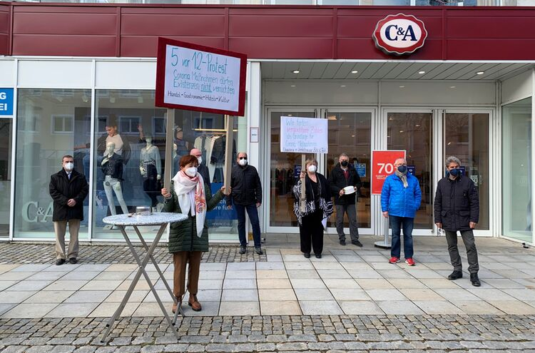 Protestaktion Freilassing