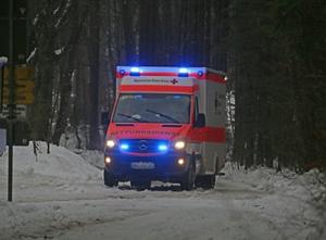 Rettungswagen Winter