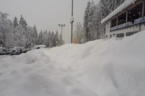 Rodelbahn Schnee