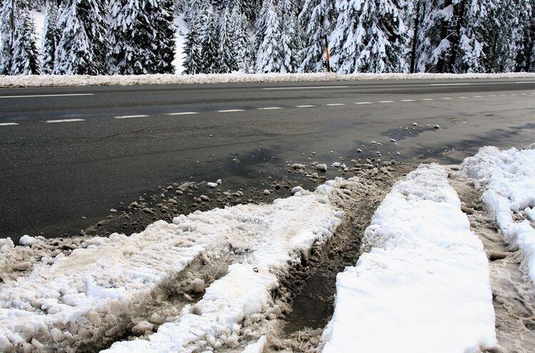 Schnee Strasse