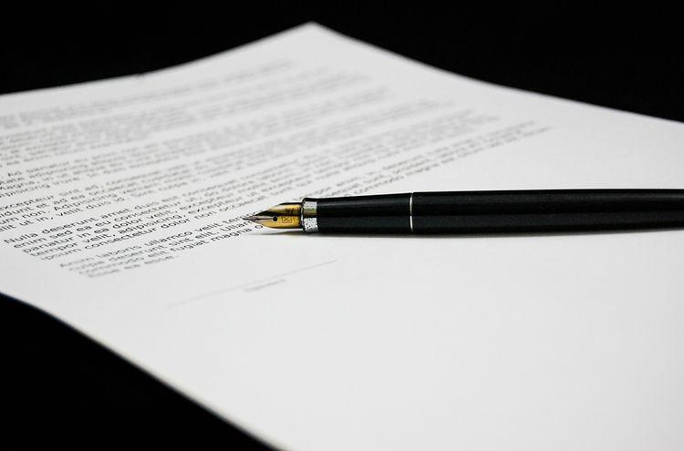 Schrift Papier Stellungnahme
