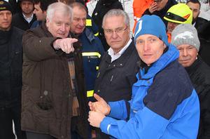Horst Seehofer und Joachim Herrmann besuchen Einsatzkräfte in Berchtesgaden Januar 2019