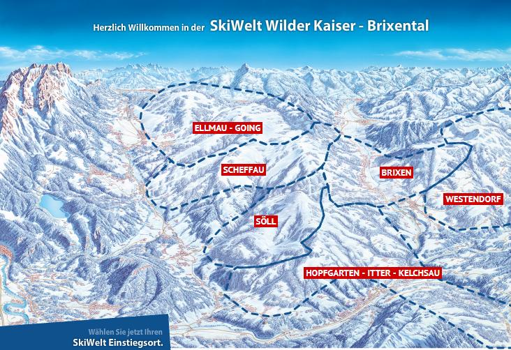 Skiwelt Wilder Kaiser Brixenthal Karte