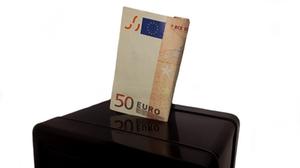 Sparbüchse Geldschein