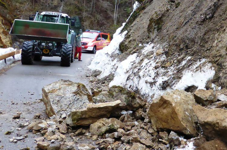 Steinschlag Bergen 1