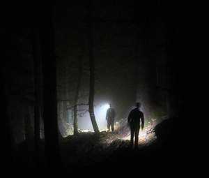 Stirnlampe Wanderer